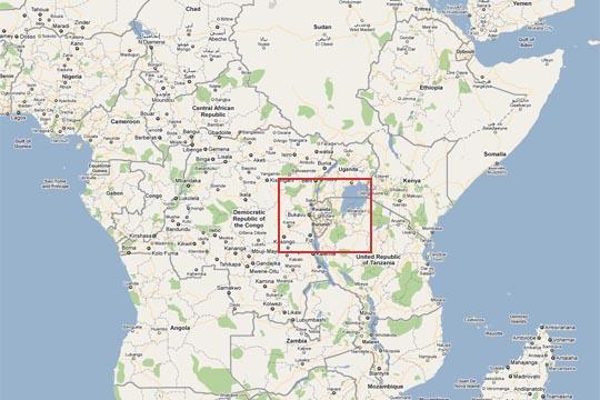 Landkarte vom Kongo (Afrika)