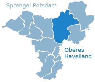 Karte vom Sprengel Potsdam - Oberes Havelland